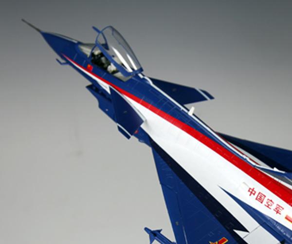 歼10飞机模型 单座表演机-北京军事仿真飞机航空模型