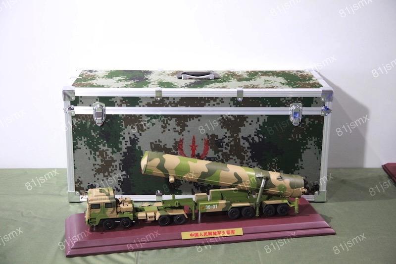 锌合金东风31导弹车模型精包装